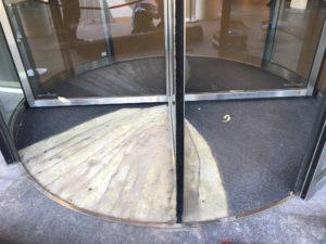 verwijderen oude deurmat