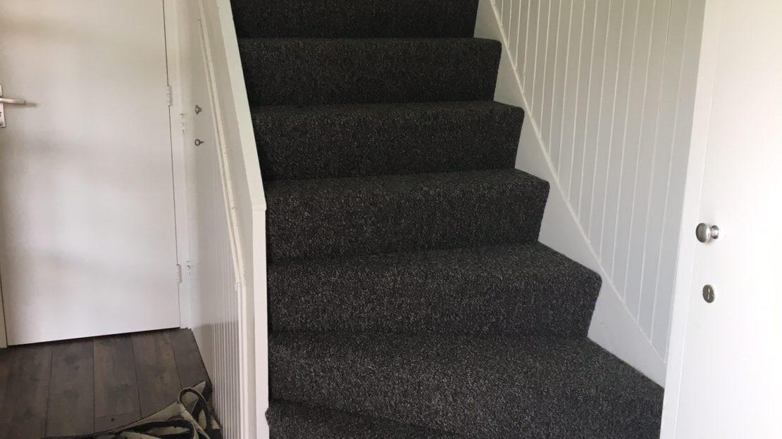 gestoffeerde trap
